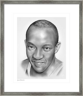 Jesse Owens Framed Print by Greg Joens