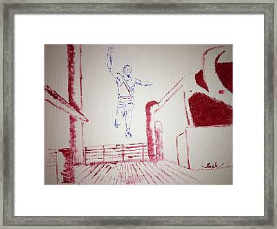 Jesse Owens Framed Print by Jack Bunds