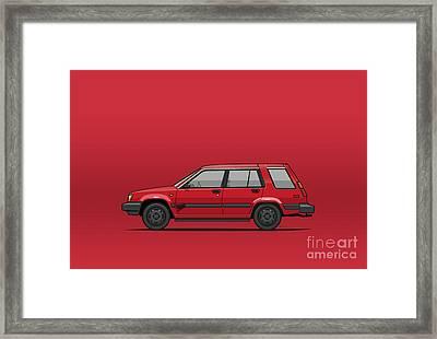 Jesse Pinkman's Crappy Red Toyota Tercel Sr5 4wd Wagon Al25 Framed Print