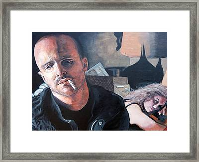Framed Print featuring the painting Jesse's Girl by Tom Roderick