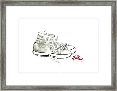 Jesse's Shoes Framed Print by Scott Manning