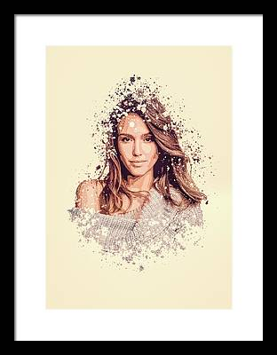 Jessica Alba Framed Prints