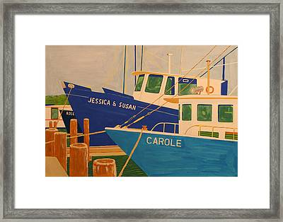Jessica And Susan Framed Print by Biagio Civale