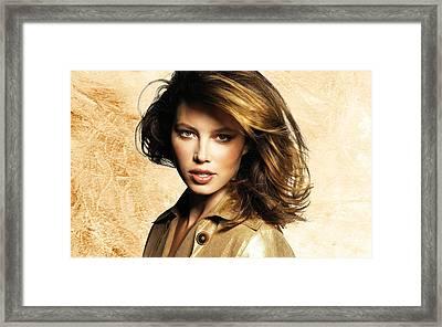 Jessica Biel 23 Framed Print