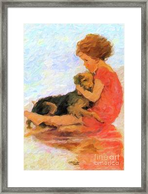 Jessie And Me Framed Print by Chris Armytage