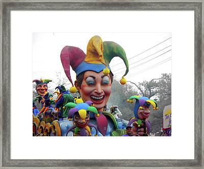 Jesters On Parade Framed Print