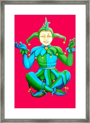 Jester Framed Print by Barbara Stirrup