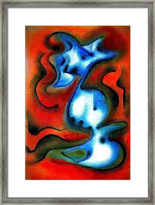 Jester Genie Framed Print by Joan Kamaru