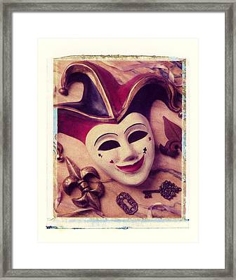 Jester Mask Framed Print by Garry Gay