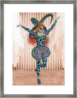 Jester Orange Framed Print by Joaquin Abella