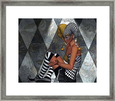Jester Tears Framed Print