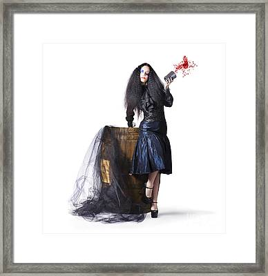 Jester With Wine Barrel Framed Print by Jorgo Photography - Wall Art Gallery