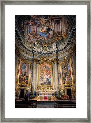 Framed Print featuring the photograph Jesuit Church Rome Italy by Joan Carroll