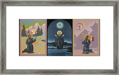 Jesuit Triptych-st Peter Faber-st Ignatius-st Francis Xavier Framed Print