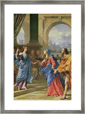 Jesus Among The Doctors Framed Print by Philippe de Champaigne