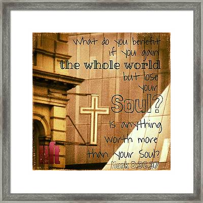 Jesus And His Disciples Left Galilee Framed Print