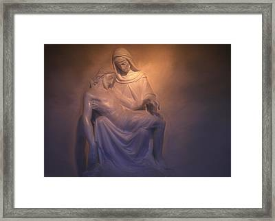 Jesus And Mary Framed Print by Donna Kennedy
