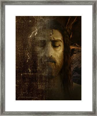Jesus And Shroud Framed Print