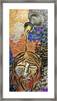 Jesus Anointed Framed Print by Nicky Williams
