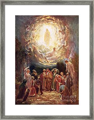 Jesus Ascending Into Heaven Framed Print by William Brassey Hole