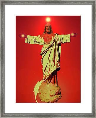 Jesus Bless No. 01 Framed Print by Ramon Labusch
