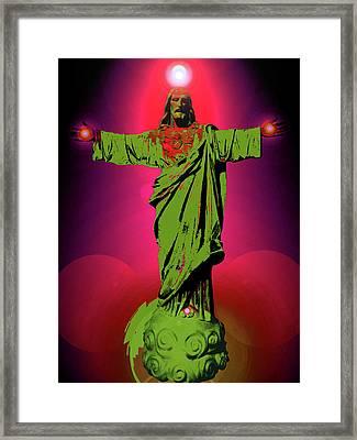 Jesus Bless No. 03 Framed Print by Ramon Labusch