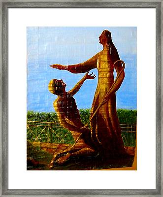 Jesus Blessing St.peter Framed Print