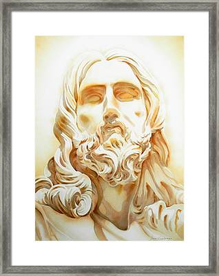 Jesus By Bernini Tribute Framed Print by J- J- Espinoza