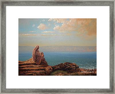 Jesus By The Sea Framed Print by Michael Nowak