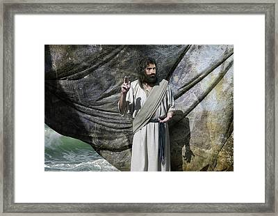 Jesus Calms The Storm Framed Print by Acropolis De Versailles