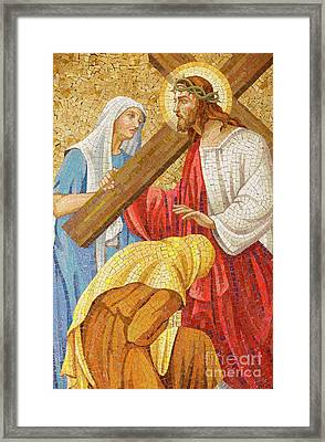 Jesus Carrying The Cross Framed Print by Unknown