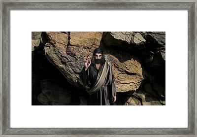 Jesus Christ- Be Blessed And Prosper Framed Print