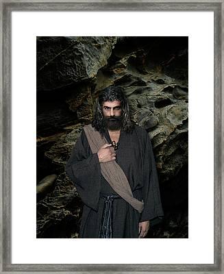 Jesus Christ- Be Still And Know That I Am God Framed Print