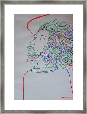 Jesus Christ Begins His Ministry Framed Print by Gloria Ssali