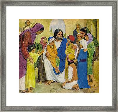 Jesus Christ Framed Print by Clive Uptton