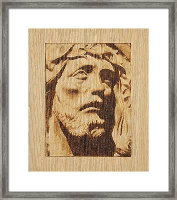 Jesus Christ Framed Print by Conrad  Pinto