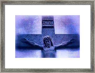 Jesus Christ Crucifixion Cross #978 Framed Print