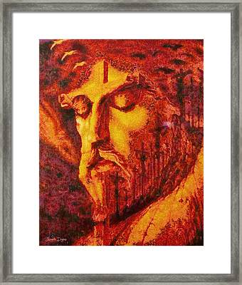 Jesus Christ - Da Framed Print by Leonardo Digenio
