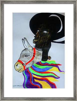 Jesus Christ Framed Print by Gloria Ssali