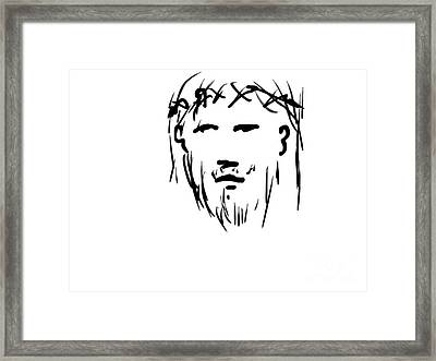 Jesus Christ Head Framed Print