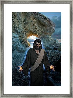 Jesus Christ- I Am With You Always Framed Print