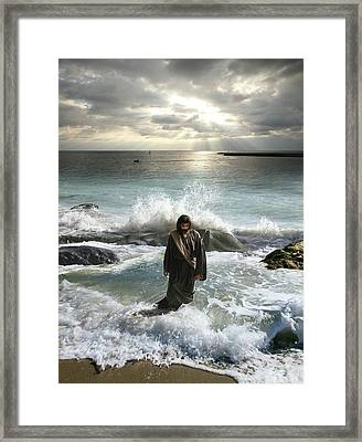 Jesus Christ- I Have Come As A Light Into The World Framed Print