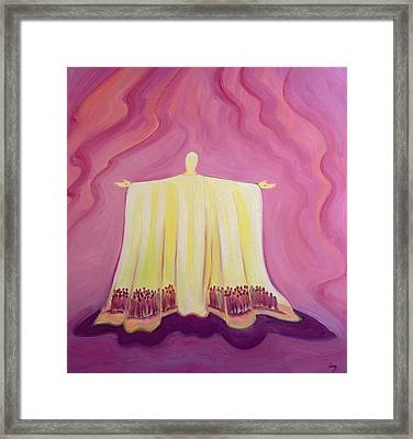 Jesus Christ Is Like A Tent Which Shelters Us In Life's Desert Framed Print by Elizabeth Wang