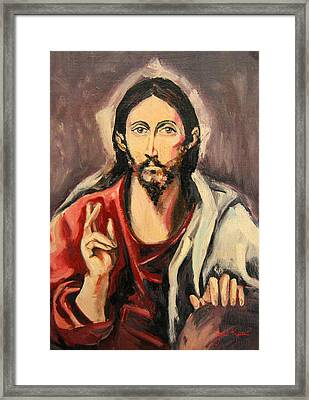 Jesus Christ Framed Print by John Keaton