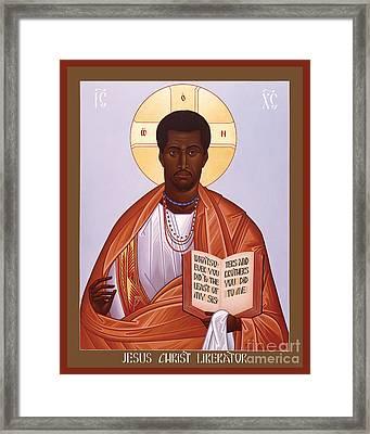 Jesus Christ - Liberator - Rljcl Framed Print
