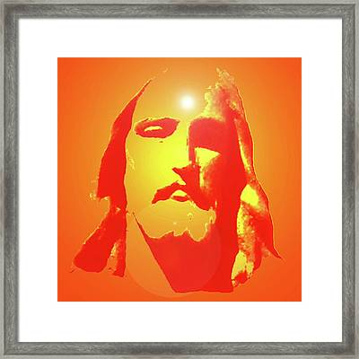 Jesus Christ No. 01 Framed Print by Ramon Labusch