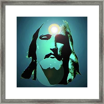 Jesus Christ No. 02 Framed Print by Ramon Labusch