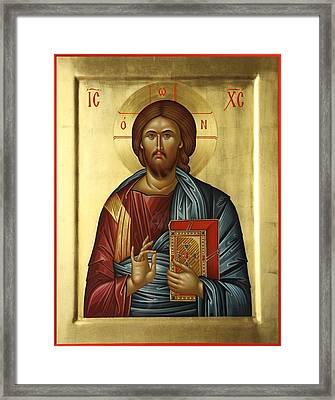 Jesus Christ Pantokrator Framed Print by Daniel Neculae