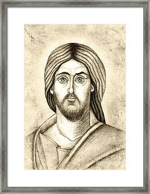 Jesus Christ Pantokrator Framed Print by Joanna Cieslinska