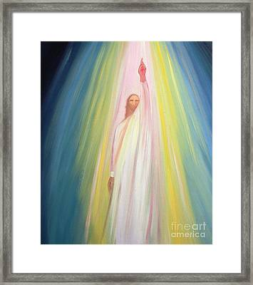 Jesus Christ Points Us To God The Father Framed Print